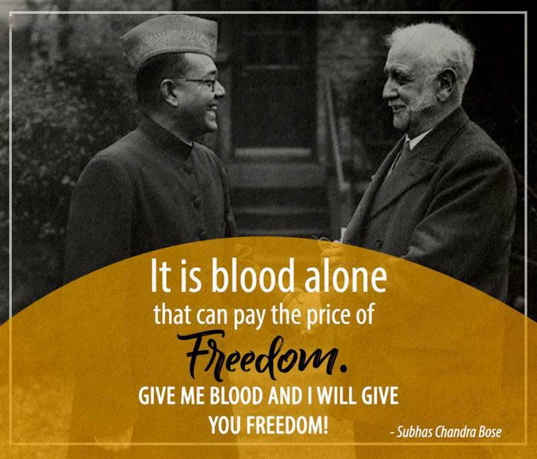 it Blood Alone That Can pay The Price of Freedom Give me Blood And I Will Give You Freedom!