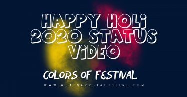 Happy Holi 2020 Status Video