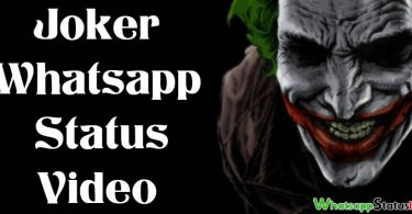 Joker Whatsapp Status Video Download