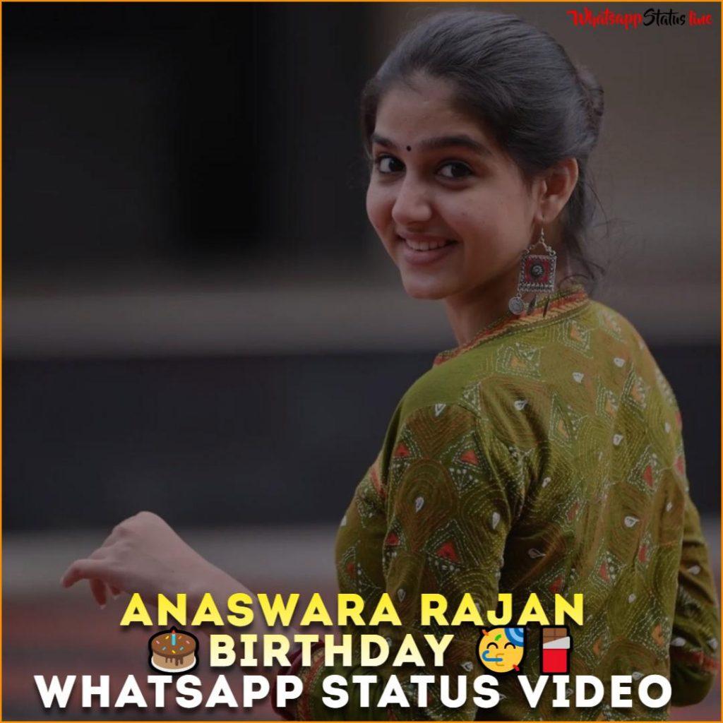 Anaswara Rajan Birthday Whatsapp Status Video