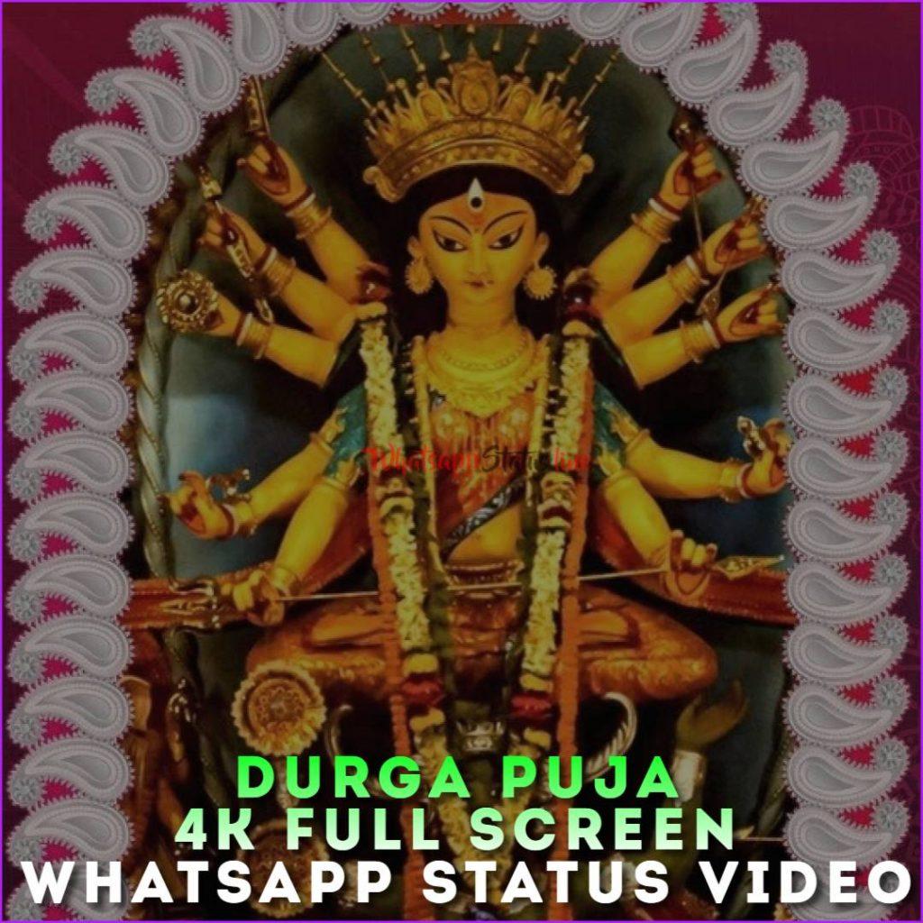Durga Puja 4k Full Screen Whatsapp Status Video